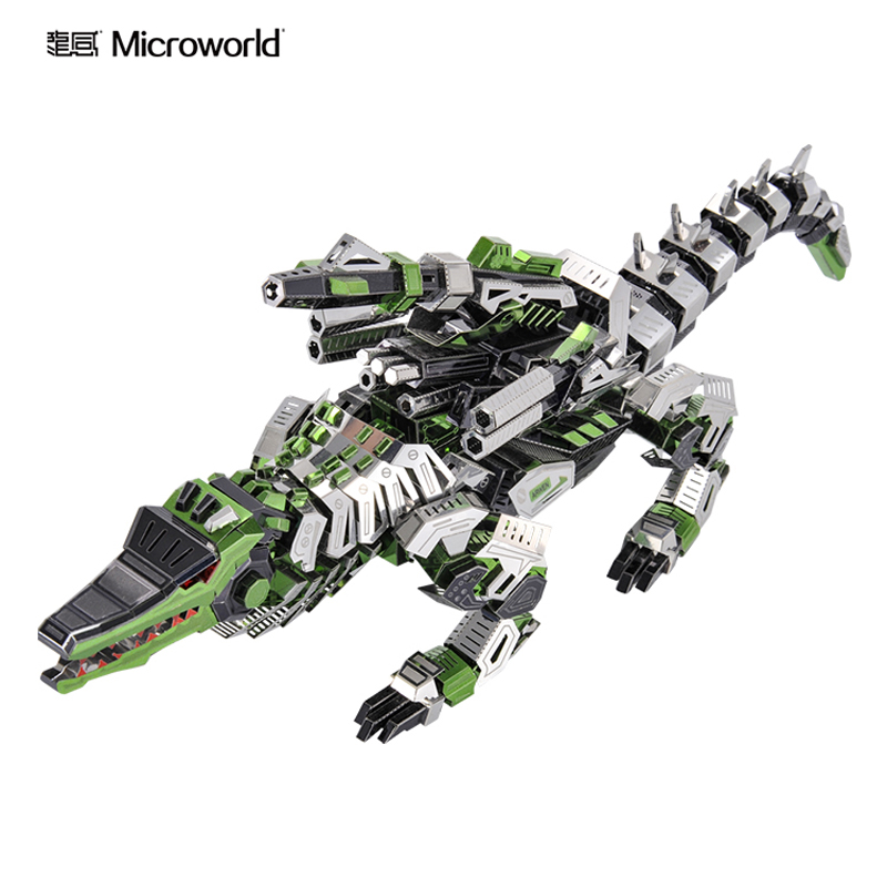 Microworld 3D metal puzzle Maesh Gavial Model kits DIY Laser Cut Jigsaw Model gift For Adult Educational Toys Desktop decor