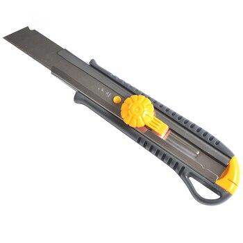 Современный 18 мм Художественный нож с металлической оболочкой, нож для резки бумаги, нож для резки бумаги, мощный фиксирующий нож, офисный н...
