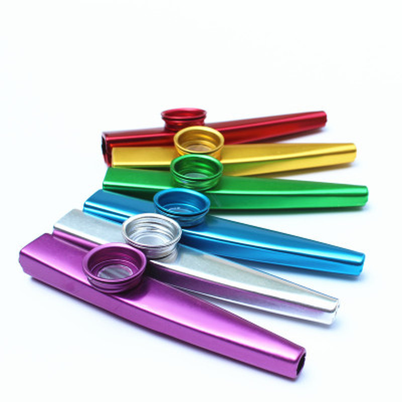 Metal Kazoo Lightweight Portable For Beginner Flute Instrument Music Lovers Woodwind Instrument Simple Design Lightweight
