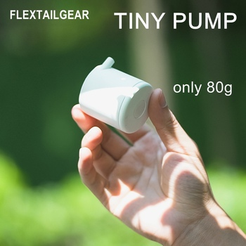 FLEXTAILGEAR Air PumP TINY Portable Rechargeable Ultralight Inflate for Sleeping Pad Camping Mattress Mat Swimming Ring Boat