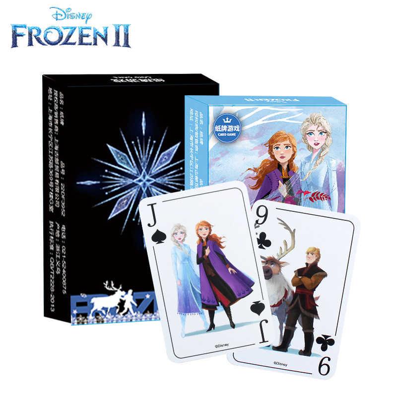Card game 54pcs Frozen 2/Avengers/Mickey Cartoon Elsa/Hero papier speelkaart casual desktop kaart game kinderen volwassen auto spel