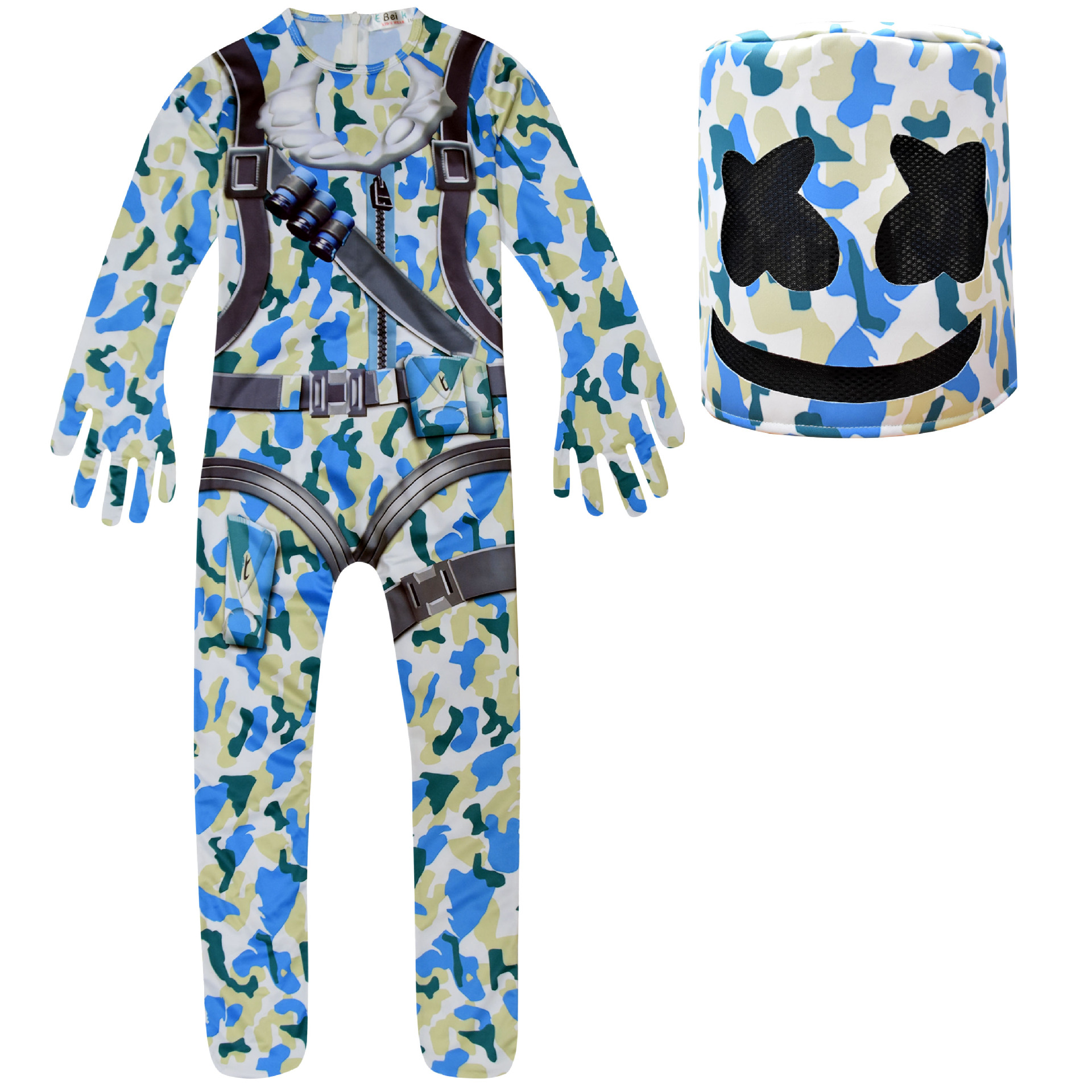 Christmas Halloween Costume Fortress Marshmallow DJ Styling Suit Siamese Performance Dress Up Suit Set