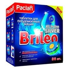 Таблетки для посудомоечной машины «Brileo» Paclan, 56 шт