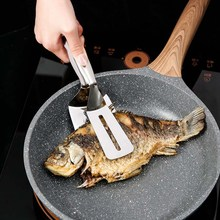 Kitchen accessories Stainless Fried Steak Shovel Barbecue Tongs Fish Shovel BBQ Clamp utensils Bread meat clip gadget spatula barbecue clip bbq grill tongs shovel spatula bread meat fried food baking stainless steel ja55