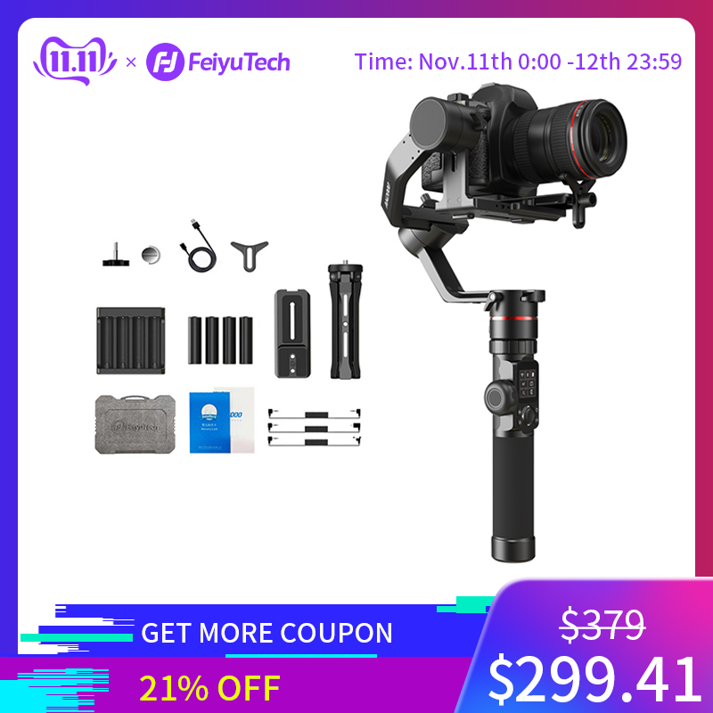 FeiyuTech AK2000 Handheld DSLR Camera Stabilizer Gimbal Video estabilizador for Sony Canon 5D Panasonic GH5 Nikon 2.8 kg Payload-in Handheld Gimbals from Consumer Electronics