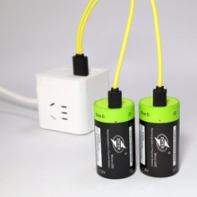 ZNTER ZNT1-1 1pcs/2pcs 1.5v Lithium li-polymer 4000mAh USB D size Rechargeable Battery D type Multifunctional battery