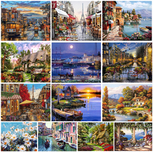 Framless Picture Diy Painting By Numbers Landscape Kit Modern Home Wall Art Picture Unique Gift For Home Decors Artworks