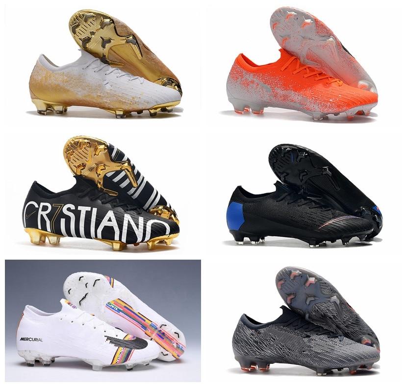 2019 Mens Soccer Shoes  VII Elite CR7 Ronaldo FG Soccer Cleats  Superfly VI 360 Outdoor Football Boots Botas De Futbol