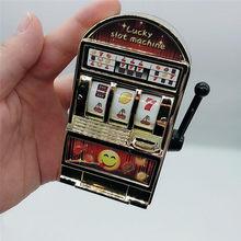 Sorte jackpot mini slot máquina anti-stress brinquedos para crianças crianças seguro máquina banco réplica engraçado mordaça brinquedos presentes de natal