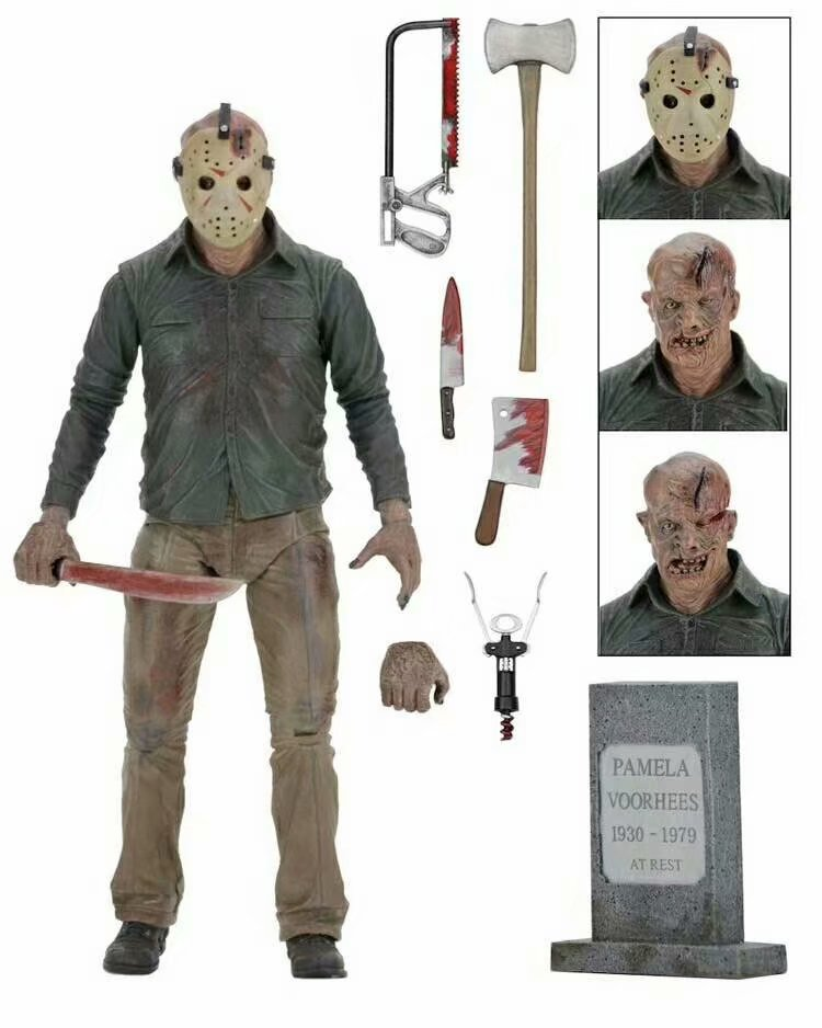 18cm NECA  Black Friday The 13th Part 3 The Final Chapter Jason Voorhees PVC Action Figure Model Doll