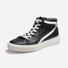 Brand New Men Cow Real Leather High Top Platform Sh