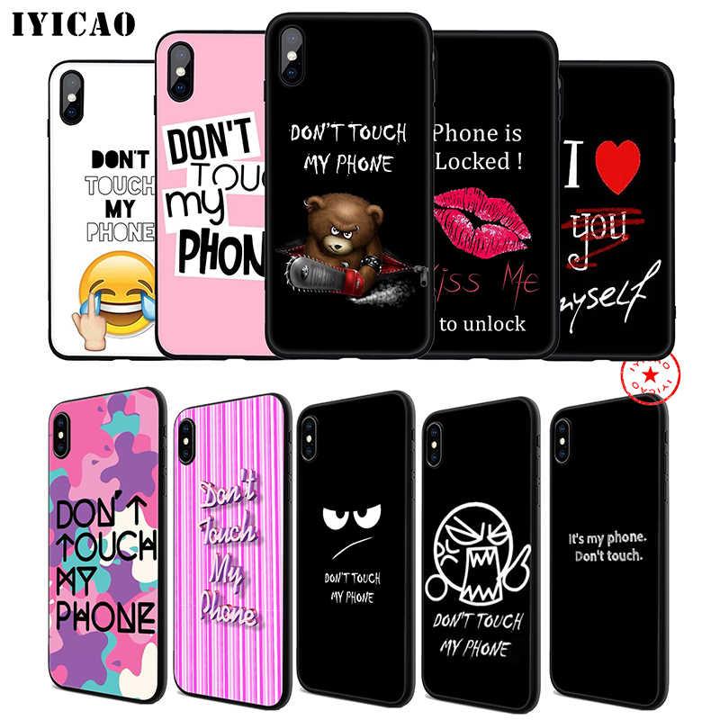 IYICAO ないタッチ私電話ソフトフォンケースの 11 プロ XR X XS 最大 6 6S 7 8 プラス 5 5S 、 SE シリコーン TPU 7 プラス