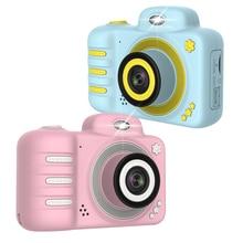 dslr Digital Cameras Dual Lens Digital Video Camera 1080P Children Mini Camera Kids Educational Toys Birthday Gifts + 16GB Card