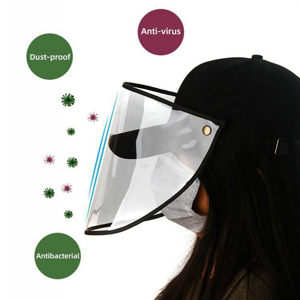 Anti Droplet Dust-proof Full Face Covering Detachable Visor Baseball Cap Hat It Can Effectively Prevent Droplets, Dust And Rain,