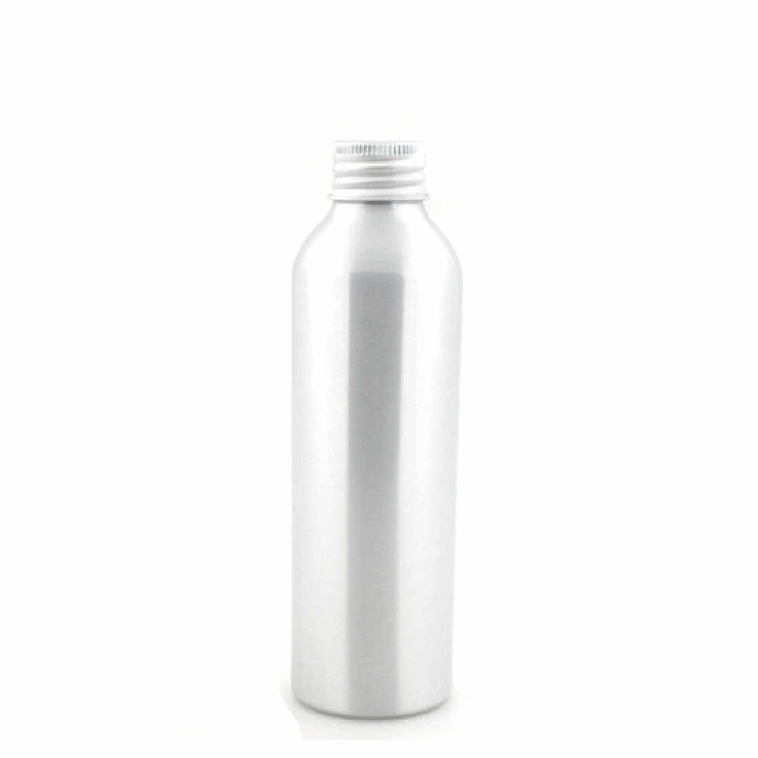 round empty 250ml aluminum Bottles, sliver metal bottle with silver/gold lined aluminum cap