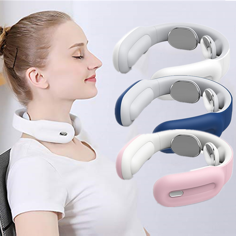 Neck-Massager Relaxation Cervical-Vertebra Heating Health-Care Pain-Relief Electric Smart