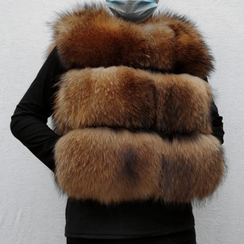 Real Natural Raccoon Jacket Real Women's Fashion Vest Real Fur Coat Fur Winter Jacket Raccoon Vest|Real Fur| - AliExpress