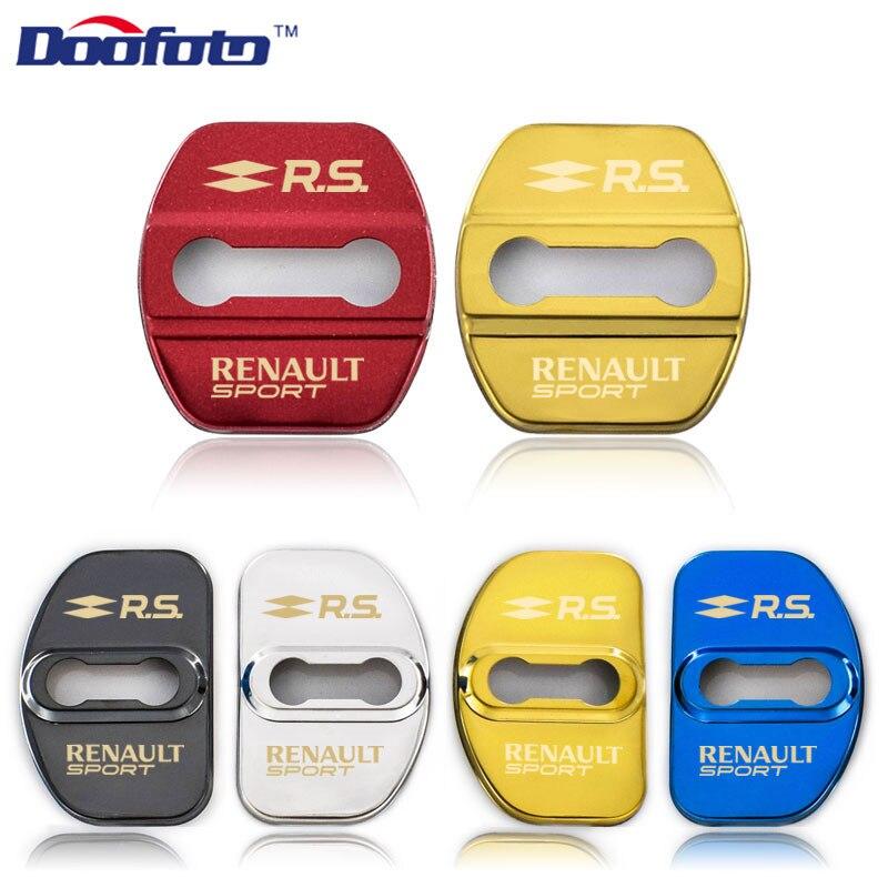 Doofoto 4x Автомобильный Дверной замок, чехлы для Renault Sport Duster Megane 2 3 Clio Fluence Logan Captur Laguna Scenic, аксессуары