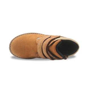 Image 4 - Apakowa filles classique en cuir Martin bottes enfants crochet et boucle mode bottines avec fermeture éclair anti dérapant haut chaussures de marche