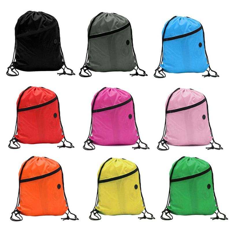 1 Pcs Sport Lightweight Drawstring Bag Large Capacity Waterproof Travel Polyester Bundle Bag Storage Backpack