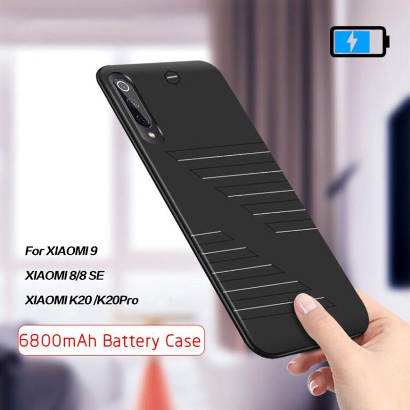 6800mAh Battery Case For Xiaomi Mi 9 8 SE External Power Bank Battery Charger Case For Xiaomi Redmi K20 Pro Powerbank Case Cover