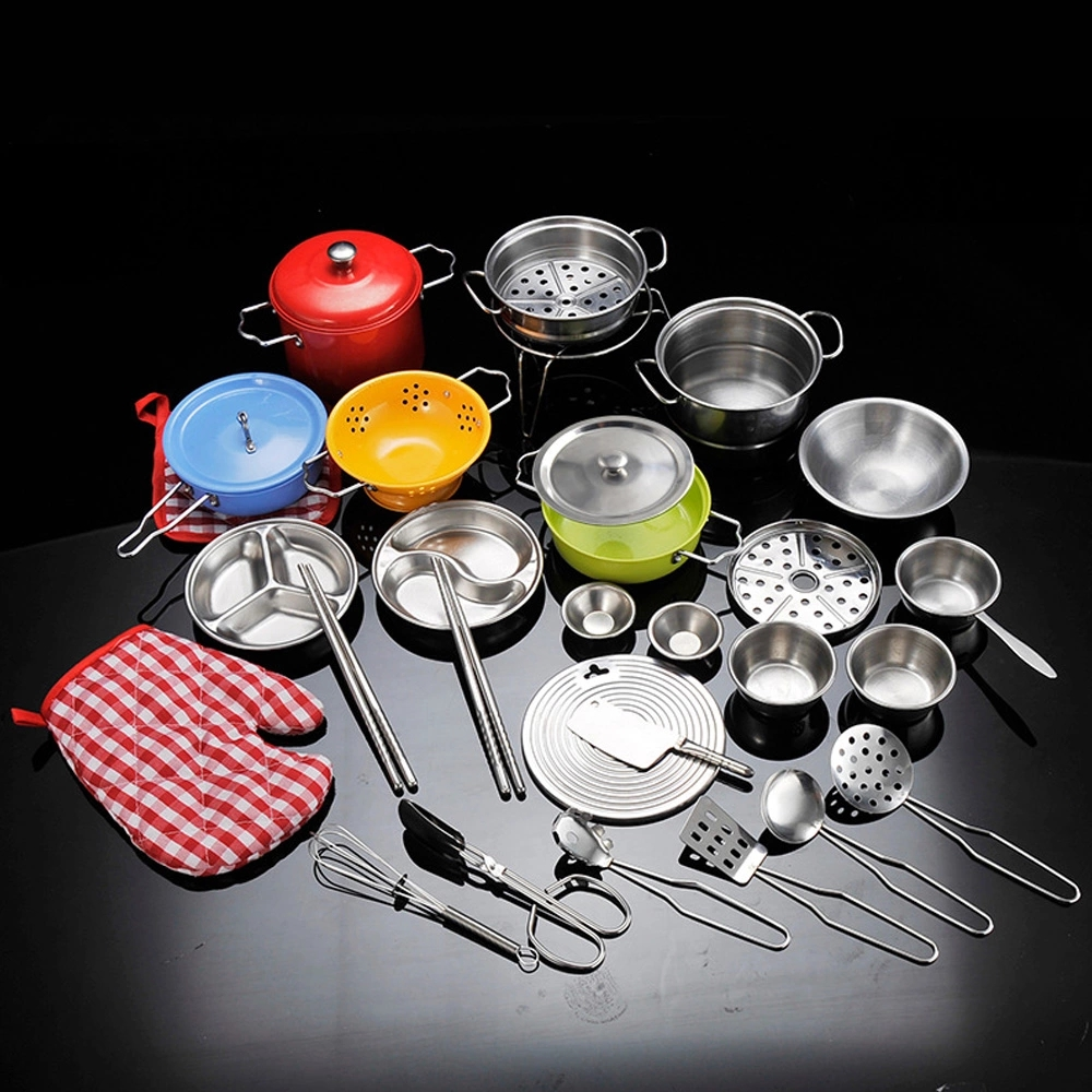 Kitchen Toys Stainless Steel Cookware