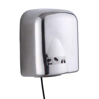 цена на 1650W high power stainless steel hand dryer hotel and supermaket wall mounted automatic Hot air drying machine
