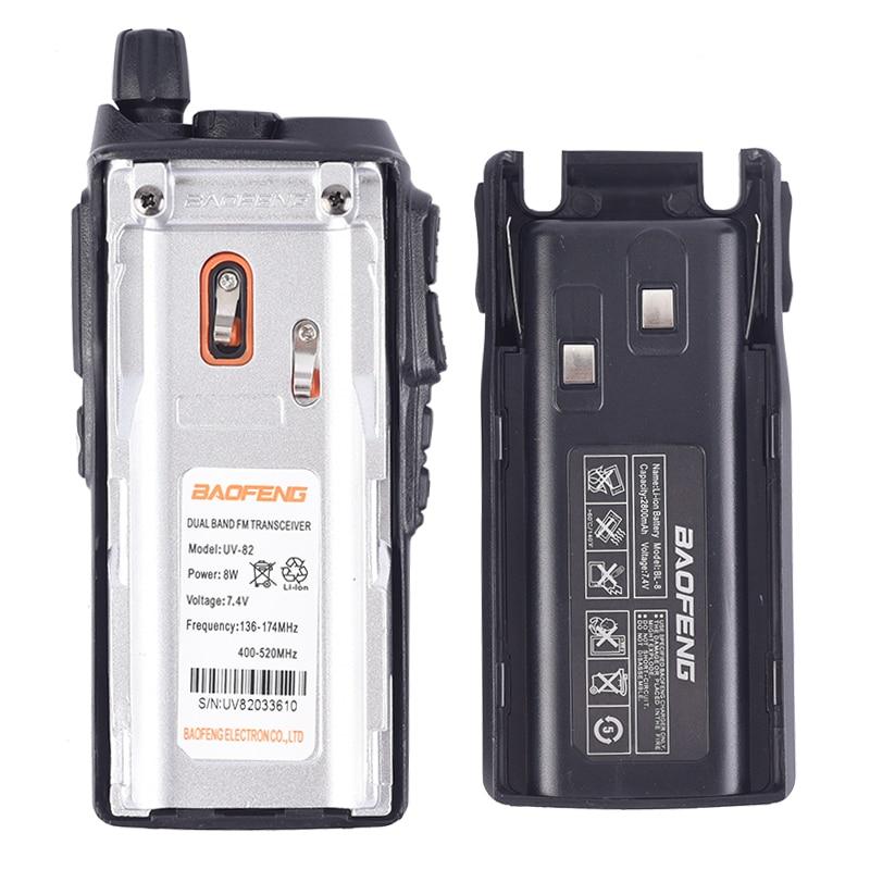 2 PCS BaoFeng UV-82 Walkie-Talkie 8 Watt U/V Baofeng UV 82 Headset Walkie Talkie 10 KM Baofeng 8W Radios uv 9r ham radio 10 KM