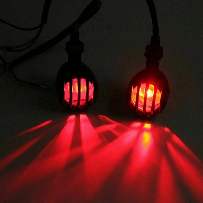 1 Pair 12V Motorcycle Grille Turn Signals Light Indicators Blinker Application Traffic Light