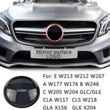Emblema delantero para coche, insignia de logotipo de rejilla, para Mercedes Benz A, B, C, E, Clase W213, W205, W177, W176, W246, CLS, W218, CLA, C117, GLA, X156, GLC, GLE