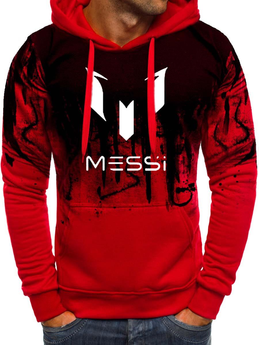 Gradient Hoodie Men Messi 10 Print Sportwear Men Hoodies Sweatshirts Casual Coat Slim Fit Hoody Harajuku Hooded Tracksuit