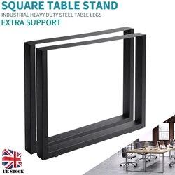2pcs Geometrica Gambe del Tavolo Quadrato Trapezio X Forma di Design Industriale Acciaio Inox Largo Gambe del Tavolo Per Sala Da Pranzo Banchi di Ufficio Scrivania nuovo