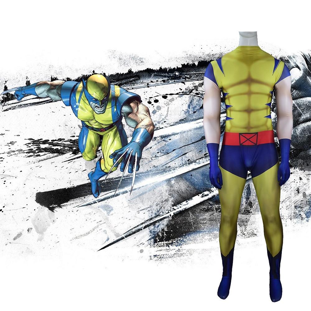 Movie X-Men Wolverine Full Body Zentai Suit Cosplay Costumes Bodysuit Christmas Kids Adult Men And Women Jumpsuit Rompers