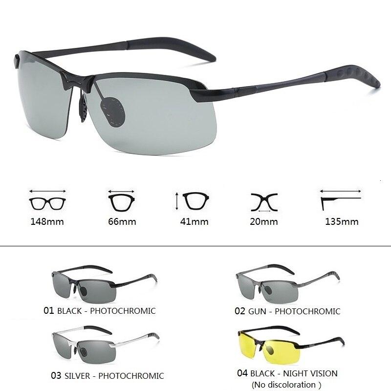 Photochromic Sunglasses Men Polarized Driving Chameleon Glasses Male Change Color Sun Glasses Day Night Vision Driver's Eyewear 5