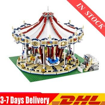 DHL IN Stock  15013 City Sreet Set Carousel Model Building Kits Blocks Toy Compatible 10196 Children Educational 1