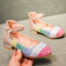 Детские сандалии; кожаные туфли принцессы; обувь для девочек; блестящая Свадебная обувь; sandalia infantil chaussure; обувь для младенцев