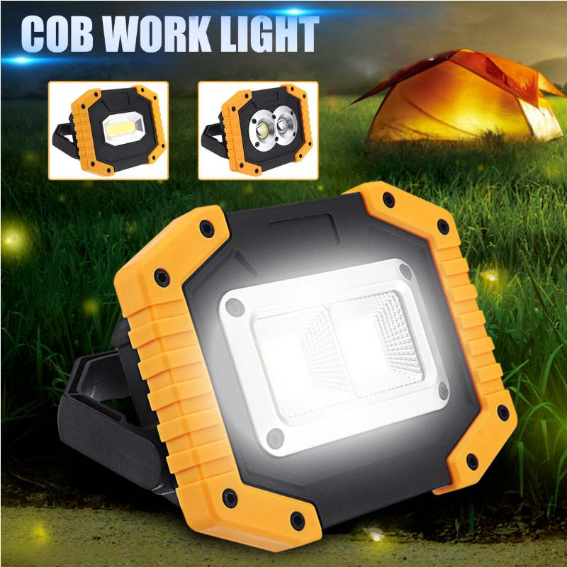 Xmund 30W USB LED COB 3 Modes Outdoor Portable Work Light Camping Emergency Lantern Flashlight Spotlight Searchlight Torch Lamp