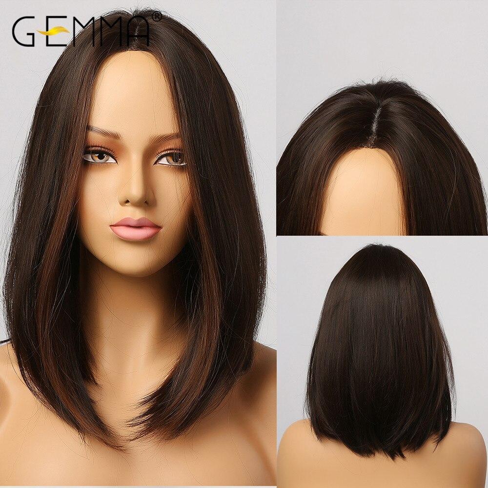 Джемма чулки; Цвета: черный, темно-коричневый синтетический парики с подсветкой для Для женщин средняя часть средств прямые волосы высокого...