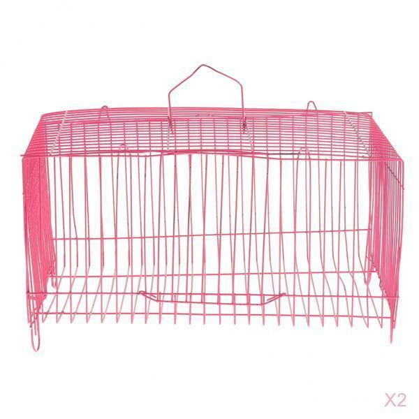2 Pieces Small Pet Hamster Rabbit House Folding Cage Small Animal Crate 2