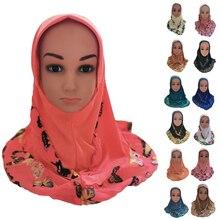 Thời Trang Trẻ Em Trẻ Em Bé Gái Hồi Giáo Hoa Hồi Giáo Khăn Ả Rập Khăn Choàng Nón Ả Rập Khăn Trùm Đầu Đầu Bao Headwrap Mũ Miếng Dán Cường Lực Mới