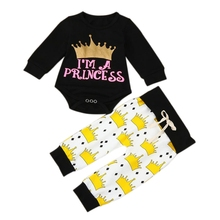 hilittlekids Baby Boys Girls Suit Long Sleeve Letter Printed Top+Pants 2Pcs Sets
