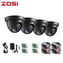 ZOSI 4 Pack HD-TVI 1080P 24PCS IR Leds Security Surveillance CCTV Camera IR Cut High Resolution Outdoor Weatherproof Camera