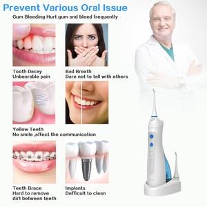 Image 3 - Lachen W3 אוראלי משטף נטענת השיניים אלחוטיים מים Flosser שיניים מקלחת 220ml מים טנק IPX7 עמיד למים למבוגרים & ילדים