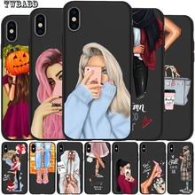 Модный чехол для телефона для девочек iPhone 11 11 Pro Max 5 5S 6 6S 7 8 Plus X XS Max XR для Capa iPhone 8 Case Etui