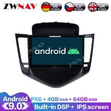 Android 9 4+64G PX6 DSP Carplay Radio Car DVD Player GPS Navigation For Chevrolet Cruze 2008 2009 - 2012 Head Unit Multimedia недорого