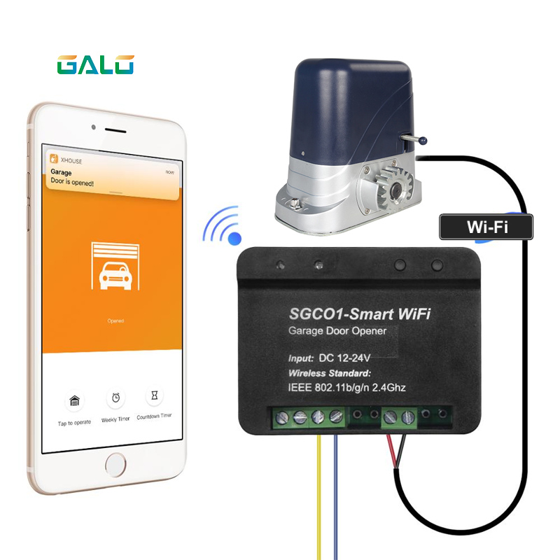 Newest Release Garage Door Opener Receiver Wifi Smart Receiver Use For Galo Brand Swing Sliding Gate Opener TX Car