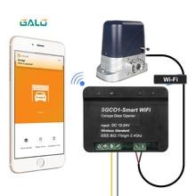 Nuevo receptor de apertura de puerta de garaje receptor wifi inteligente uso para el coche de la marca galo abridor de puerta deslizante TX