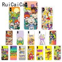 Ruicaica cartoon Rugrats amin schönen Weichen Silikon Telefon Fall für iPhone 8 7 6 6S Plus X XS MAX 5 5S SE XR 10 Fundas Abdeckung-in Halbumwickelte Hülle aus Handys & Telekommunikation bei