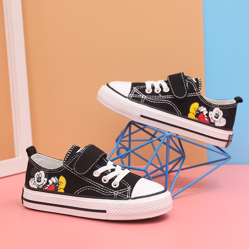 Kids Shoes Toddler Sneakers Cartoon Mickey Cute Boy Shoes Children Sneakers Girl Canvas Shoes School Boys Canvas Size 25-37