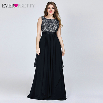 Plus Size Floral Lace Bridesmaid Dresses Ever Pretty A-Line Ruffles Sleeveless O-Neck Layer Elegant Wedding Party Gowns 2020 1